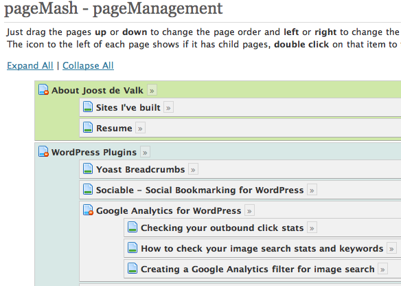 Pagemash, a top WordPress plugin