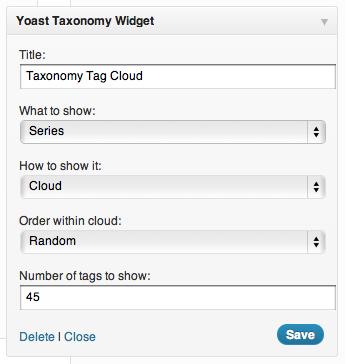 taxonomy widget