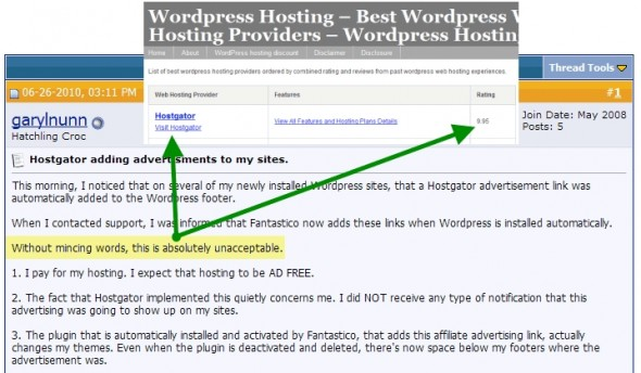 WordPress hosting scam
