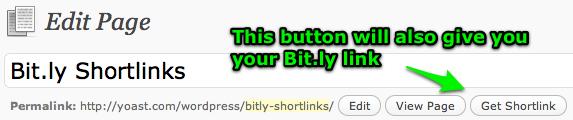 Get Shortlink button
