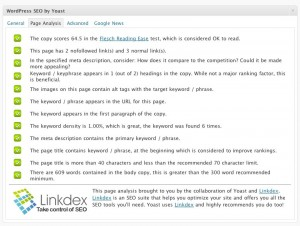 Page Analysis - Content SEO well done!