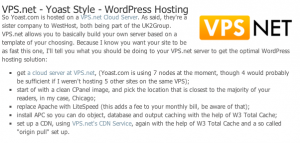 WordPress hosting article with WordPress editor style