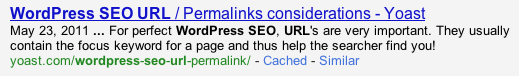 WordPress SEO URL check