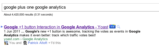 google plus one google analytics