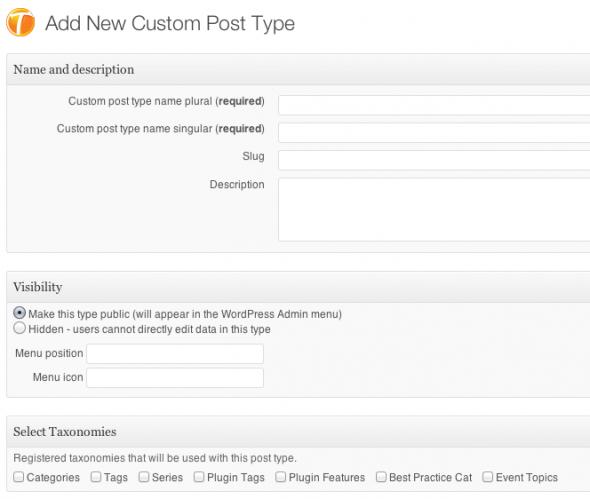 Add New Custom Post Type