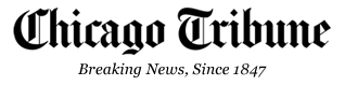 Chicago Tribune logo: notice the caption