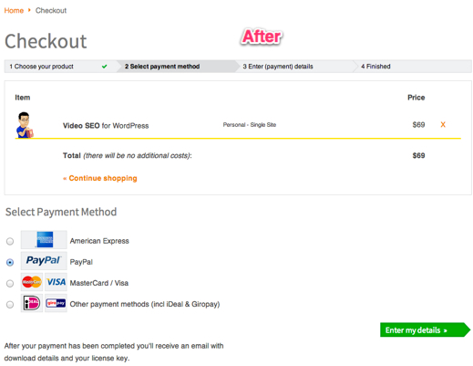 New Checkout page - Conversion rate optimization