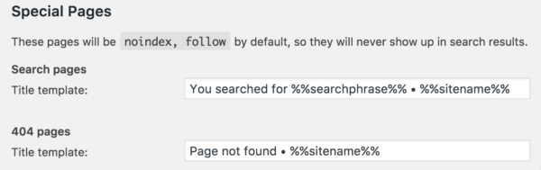 Block internal search pages