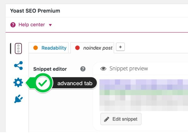 the advanced tab of the Yoast SEO metabox; here you can noindex a post.