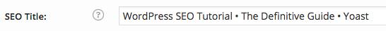 wordpress seo title input