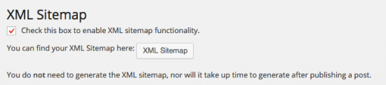 wordpress seo xml sitemap settings