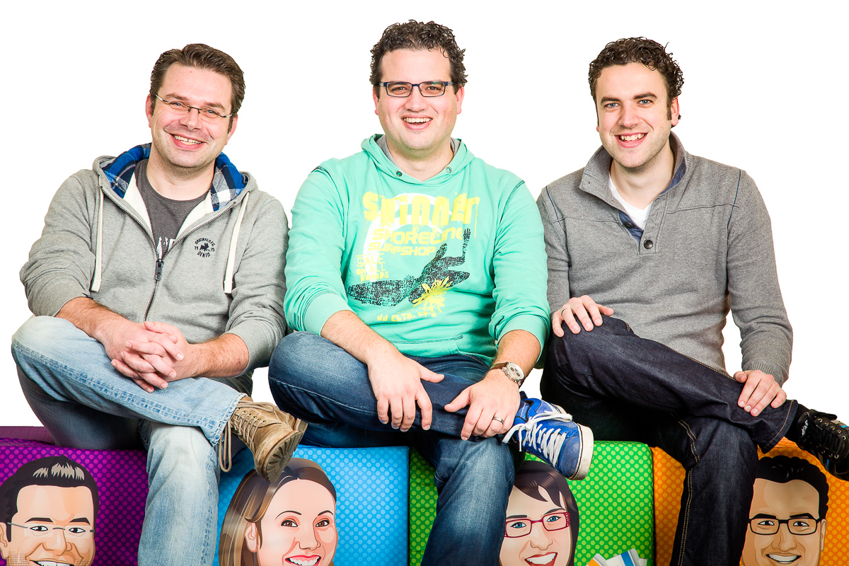 The Yoast Website review team, from left to right: Michiel, Joost and Thijs