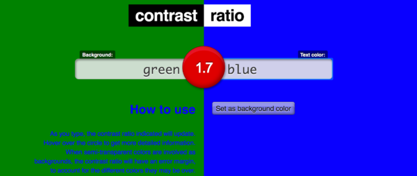 Contrast Ratio test