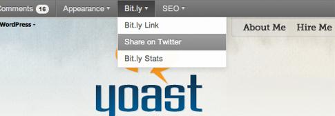 Bit.ly adminbar item