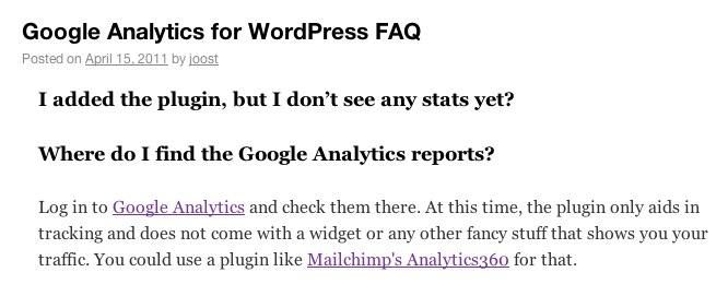 WordPress FAQ manager
