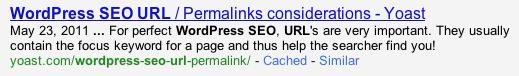 WordPress SEO URL check
