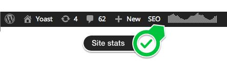 clicky admin bar stats