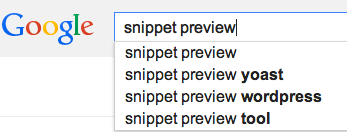 snippet preview google search