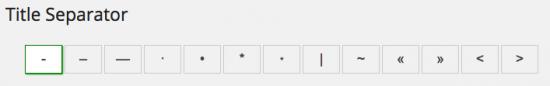 title separator option