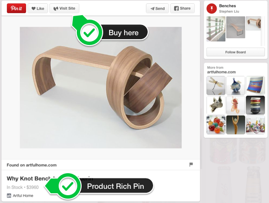 Pinterest marketing: Product Rich Pins