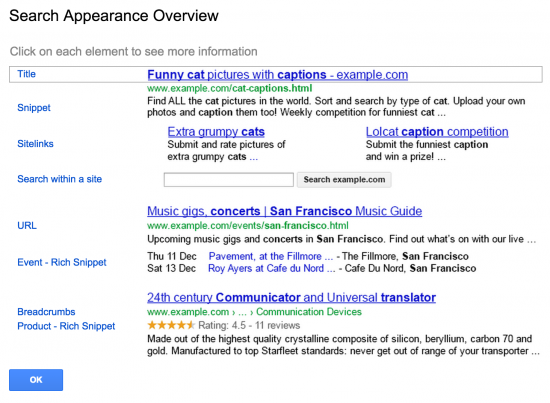 Google Webmaster Tools - Sitelinks