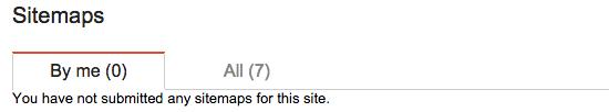 Google Webmaster Tools: Tabs on sitemaps
