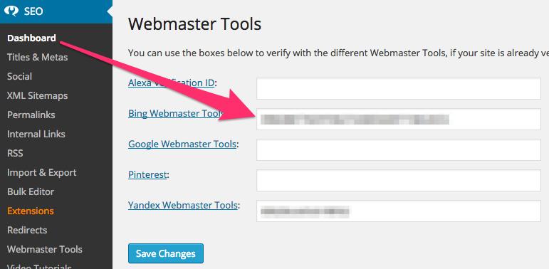 Bing Webmaster Tools: Configure my site - Yoast