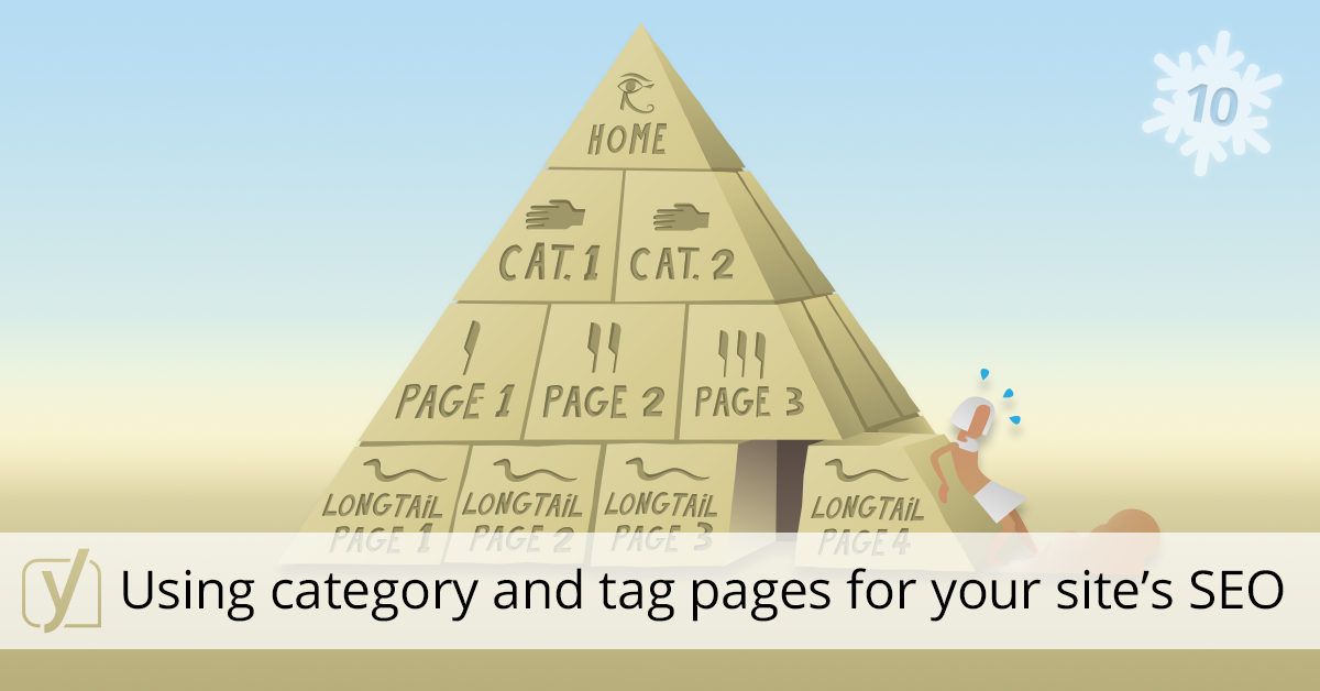 using categories and tag pages for SEO