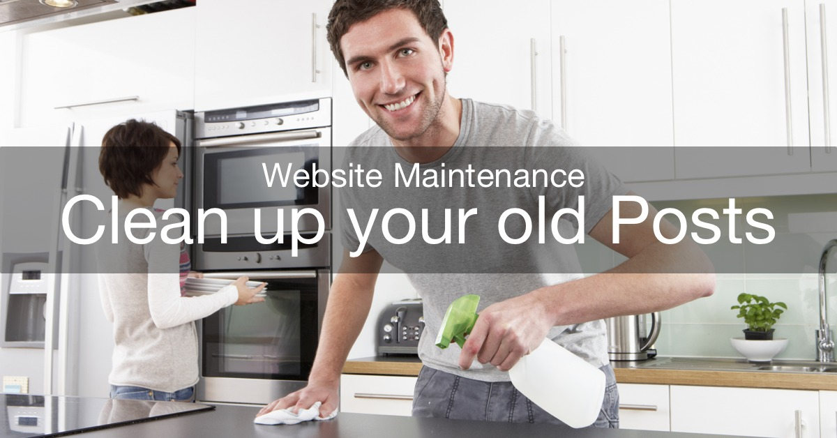 website maintenance: clean up old posts