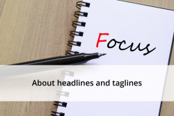 About headlines and taglines