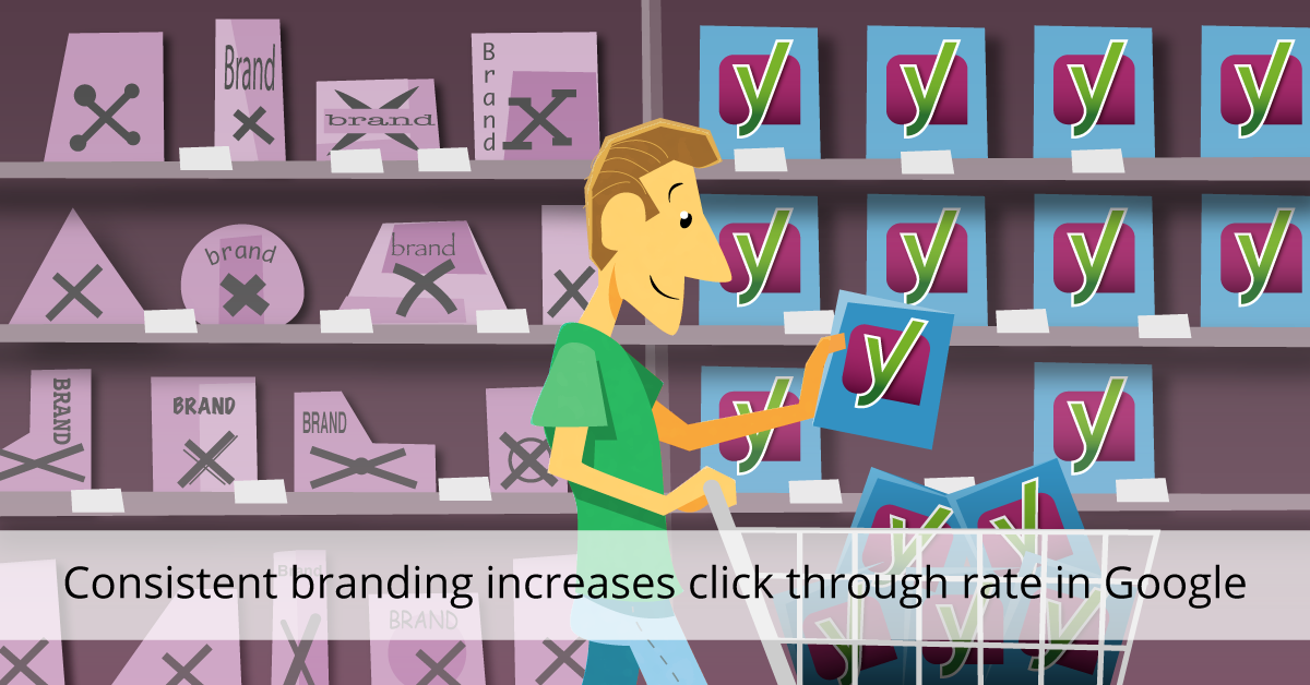 Consistent branding increases click through rate in Google