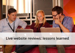 Live website reviews: lessons learned