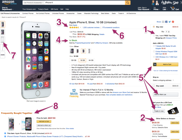 Amazon Product Page UX