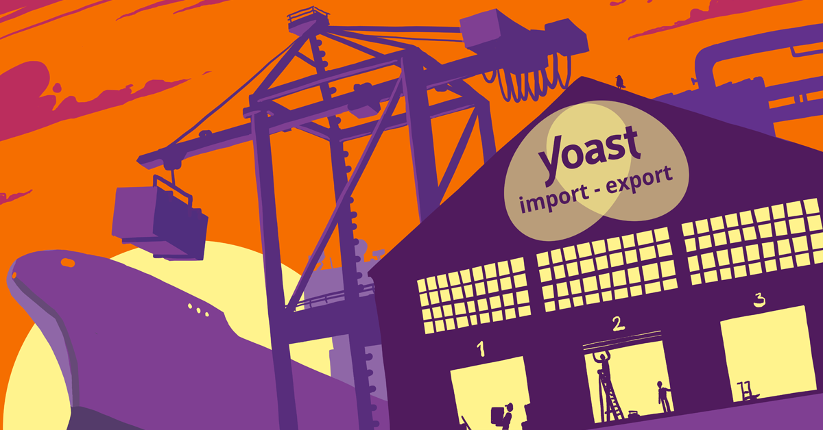 Import and export in the Yoast SEO plugin
