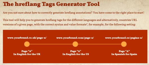 hreflang tag generator tool by Aleyda