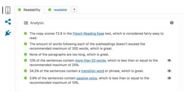 readability check screenshot
