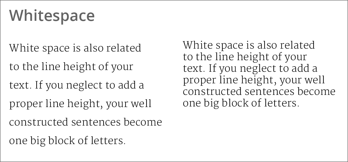 using whitespace to improve readability