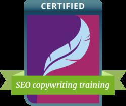 SEO copywriting training badge