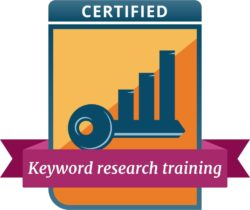 keyword research training badge