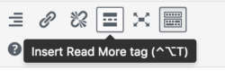 Insert More tag | Handy WordPress plugins