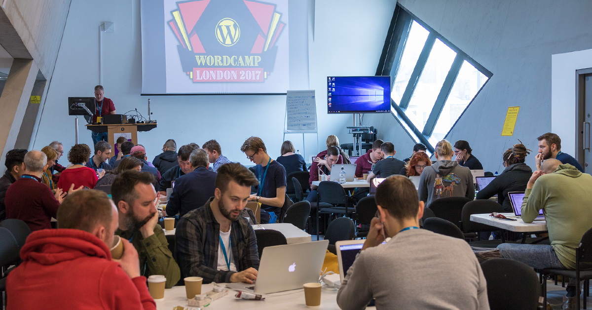 WordCamp London WordPress design