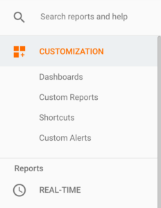 Customization tab