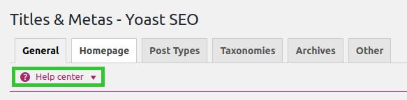 yoast seo titles metas help center