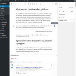 Gutenberg editor mockup - block level